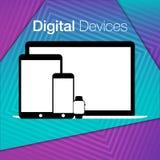 Fond géométrique d'ensembles numériques modernes de dispositifs Images libres de droits