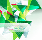 Fond géométrique de forme de triangle de vecteur Photo libre de droits