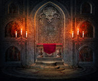 Fond gothique intérieur foncé Photographie stock