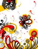 Fond graphique abstrait d'illustration de fleur Photographie stock libre de droits