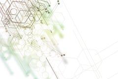 Fond graphique abstrait de technologie Images libres de droits
