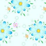 Fond graphique bleu de fleur de modèle Photos libres de droits