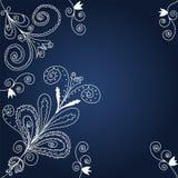Fond graphique bleu et blanc Photo stock