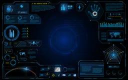 Fond graphique courant de concept de système d'innovation de technologie de conception d'ui d'interface de Hud illustration de vecteur