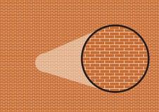 Fond graphique de brique avec le bourdonnement en détail Photographie stock libre de droits