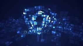 Fond graphique de technologie numérique bleue abstraite de cyber illustration libre de droits