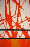 Fond graphique orange et blanc de mur. Image stock