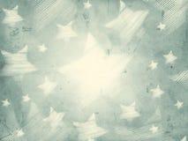 Fond gris abstrait avec les étoiles rayées Photographie stock