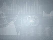 Fond gris abstrait avec les diagrammes graphiques Images libres de droits