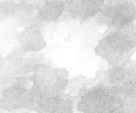 Fond gris abstrait d'aquarelle Photos libres de droits