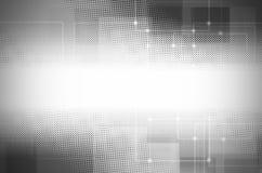 Fond gris abstrait de technologie illustration de vecteur