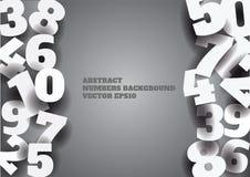 Fond gris abstrait de vecteur avec les nombres 3d Images libres de droits