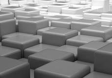 Fond gris avec des cubes illustration de vecteur
