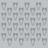 Fond gris avec des silhouettes des cerfs communs drôles illustration libre de droits