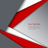 Fond gris blanc rouge abstrait de triangles Photo stock