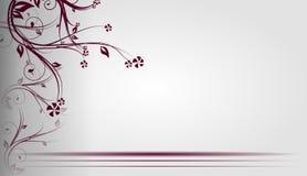 Fond gris-clair floral Image libre de droits