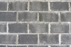 Fond gris de mur de grande brique, texture images libres de droits