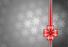 Fond gris de Noël Photographie stock libre de droits