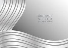 Fond gris de vecteur d'abrégé sur courbe avec l'espace de copie Photo libre de droits
