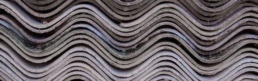Fond gris de vieille couverture de toit sur la maison privée Photographie stock libre de droits