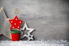 Fond gris en métal, décoration de Noël Images stock