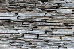 Fond gris extérieur de texture de mur en pierre de plan rapproché Photos stock