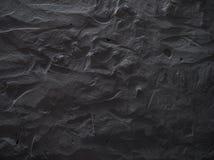Fond gris-foncé dramatique de mur en béton Images libres de droits