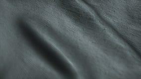 Fond gris neutre de tissu ondulant dans le vent Facile à colorize à toute couleur désirée banque de vidéos