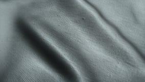 Fond gris neutre de tissu ondulant dans le vent Facile à colorize à toute couleur désirée clips vidéos
