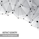 Fond gris polygonal. Connexion moléculaire abstraite Images stock