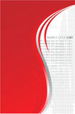 Fond gris rouge de sampletext Photo stock