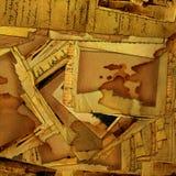 Fond grunge abstrait avec de vieilles archives illustration stock