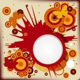 Fond grunge abstrait avec des cercles d'explosion Images stock