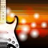 Fond grunge abstrait avec la guitare électrique Images stock