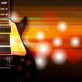 Fond grunge abstrait avec la guitare électrique Photos stock