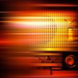 Fond grunge abstrait avec la rétro radio Image libre de droits