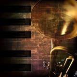 Fond grunge abstrait avec la trompette illustration de vecteur
