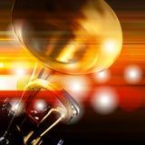 Fond grunge abstrait avec la trompette Photographie stock