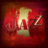 Fond grunge abstrait avec le jazz de mot Photographie stock
