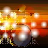Fond grunge abstrait avec le kit de tambour Images stock