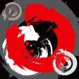 Fond grunge abstrait avec les rappes radiales Photo stock