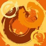 Fond grunge abstrait avec les rappes radiales Images stock