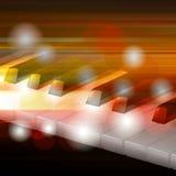 Fond grunge abstrait de musique avec le piano Photo stock