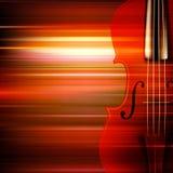 Fond grunge abstrait de musique avec le violon Photos stock