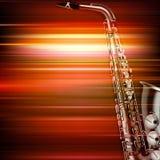 Fond grunge abstrait de piano avec le saxophone Photo libre de droits