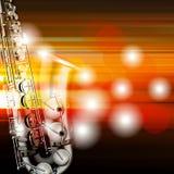 Fond grunge abstrait de piano avec le saxophone Image libre de droits