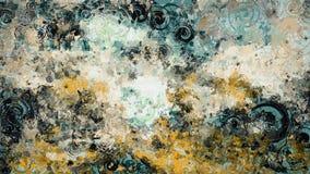 Fond grunge abstrait de texture avec les éléments en spirale circulaires, fond multicolore Photo stock