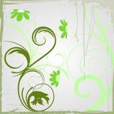 Fond grunge abstrait floral illustration stock