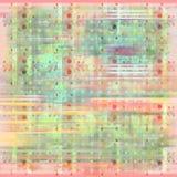 Fond grunge abstrait floral/repéré mou Images libres de droits
