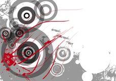 Fond grunge avec des cercles Photos libres de droits